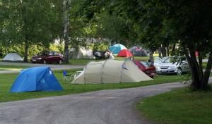 Палатки в кемпинге