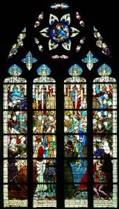 Витраж-коронации-Карла-VII-в-Реймсе-собор