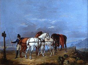 гонец с лошадьми